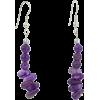 Amethyst Dangle Earrings - Earrings -