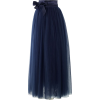 Amore Maxi Tulle Prom Skirt in Navy blue - Faldas -