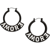 Amore Plastic Hoops - Earrings -