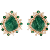 Amrapali 18K Gold, Emerald And Diamond E - Kolczyki -