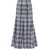 Amy tartan-flannel cashmere midi skirt £ - Saias -