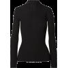 Ance Black Ribbed Top - Long sleeves t-shirts -