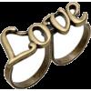 Anel Cromado Love - Prstenje -