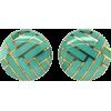 Angela Cummings Turquoise Gold Earrings - Earrings -