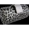 Animal Print Rhinestone Closure Hard Case Baguette Evening Clutch Purse w/Detachable Chain Grey - Borse con fibbia - $42.50  ~ 36.50€