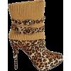 Animal Print Sock Boot - Boots -