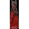 Animal Print and Red  Dress - Vestiti -