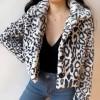 Animal pattern buttoned lapels short fau - Jacket - coats - $79.99