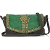Antik Batik embellished suede bag - Messaggero borse -