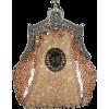 Antique Victorian Applique Plated Brooch Beaded Clasp Purse Clutch Evening Handbag w/2 Detachable Chains Champagne - Bolsas com uma fivela - $29.50  ~ 25.34€