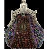 Antique Victorian Applique Plated Brooch Beaded Clasp Purse Clutch Evening Handbag w/2 Detachable Chains Purple - Bolsas com uma fivela - $29.50  ~ 25.34€