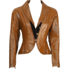 Antique Victorian Leather Jacket - Jacket - coats -
