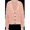 Antique rose Cable-knit cotton-blend car - Veste -