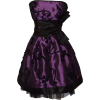 Applique Ribbon Strapless Mini Dress Prom Party Formal Gown Purple/Black - Haljine - $71.99  ~ 457,32kn