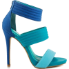 Aqua and blue shoes - Klasične cipele -