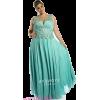 Aqua evening gown - People - $180.00