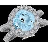 Aquamarine and Diamond Ring - Rings - $1,519.00  ~ £1,154.46