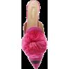 Aquazzura Fuxia Satin Slipper With Puff  - Flats - $423.72