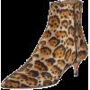 Aquazzura Quant Jacquard Leopard Booties - Boots -