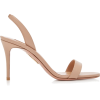 Aquazzura So Nude Leather Sandals - Sandalias -