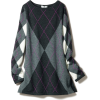 Argyle pattern inter shank knitted tunic - Dresses -