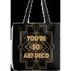 Art Deco tote by drewjamer - Potovalne torbe -