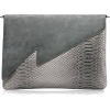 Artificial Snake Skin Clutch  - Messenger bags -