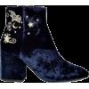 Ash Elixir Nadine Velvet EmbroideredBoot - Boots -