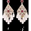 Ashley Pittman Horn, Ruby, Amethyst And - Earrings -