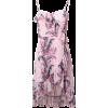 Asymmetric Ruffled Cami Mini Dress - Dresses -