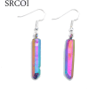 Aura Quartz Spike Hanging Earrings - Naušnice - $5.69  ~ 4.89€