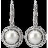 Avanti Pearl Sterling Silver Earrings - Kolczyki -