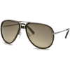 Aviator Sunglasses: Black-Silver/Gray-Light Brown Gradient - Sonnenbrillen - $87.00  ~ 74.72€