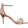 BADGLEY MISCHKA pink satin embellished - Sandals -