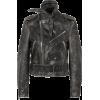 BALENCIAGA Scarf distressed leather bike - Jacket - coats -