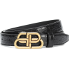 BALENCIAGA BB croc-effect leather belt - Belt -