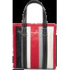 BALENCIAGA Bazar XXS striped textured-le - Hand bag -