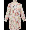 BALENCIAGA High-neck floral-print pleate - Kleider -
