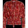 BALENCIAGA  Pleated Lavalliere blouse - Camisas -