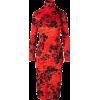 BALENCIAGA red & black floral dress - Dresses -