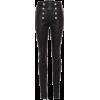 BALMAIN High-waisted skinny leather trou - Leggings -