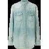 BALMAIN distressed denim shirt - Long sleeves shirts - 820.00€  ~ £725.60