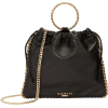 BALMAIN Black Leather B-Link Bracelet Ba - Carteras -