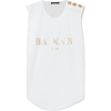 BALMAIN Button-embellished printed tank - Tanks -