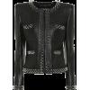 BALMAIN Embellished leather jacket - Jacket - coats -