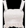 BALMAIN  Fringed bouclé-tweed crop top - Tanks -