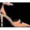 BALMAIN  Strap Pink Suede Stiletto Pumps - Scarpe classiche -