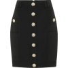 BALMAIN Wool mini skirt - Saias -
