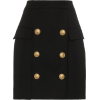 BALMAIN button embellished mini skirt 78 - Spudnice -