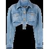 BALMAIN cropped denim jacket - 外套 -